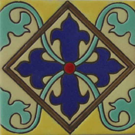 gothic relief tile navy blue