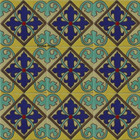 gothic relief stair riser navy blue tile