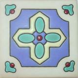 italian relief tile green