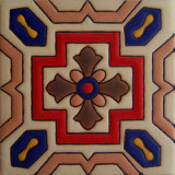 portuguese relief tile red