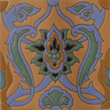 old world relief tile green
