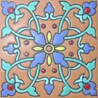 guanajuato relief tile blue