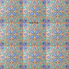 guanajuato relief stair riser blue tile