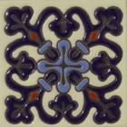 italian relief tile sky blue