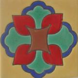colonial hacienda relief tile red