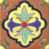 classic colonial relief tile yellow
