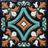 mexican relief tile sky blue