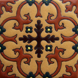 rustic relief tile terracotta