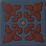 old world relief tile dark brown