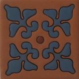 classic relief tile blue