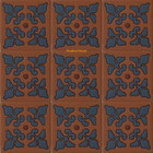 classic relief stair riser blue tile