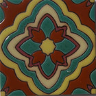 traditional relief tile dark brown