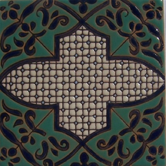 colonial relief tile green