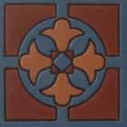 hacienda relief tile dark brown