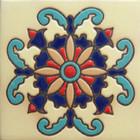 modern relief tile blue