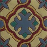colonial hacienda relief tile blue