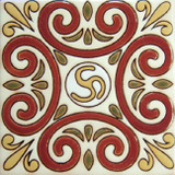 classic colonial relief tile terracotta