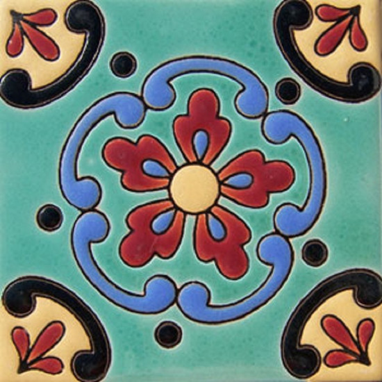 old world relief tile terracotta