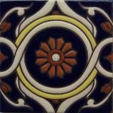 portuguese relief tile white