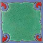 conventional relief tile blue