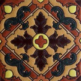 traditional relief tile terracotta