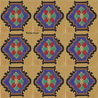 colonial relief stair riser blue tile