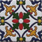 colonial hacienda relief tile navy blue
