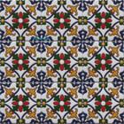 colonial hacienda relief stair riser navy blue tile