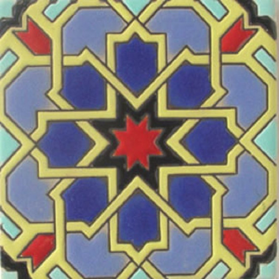 old world relief tile yellow