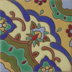 traditional relief tile white