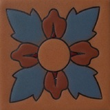 hacienda relief tile blue