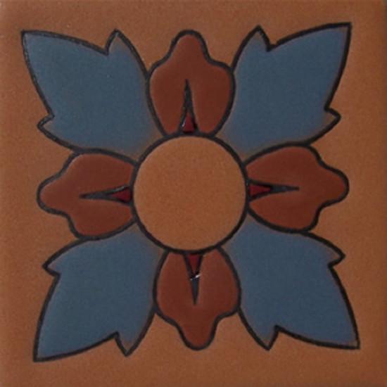 hacienda relief tile blue