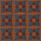 hacienda relief stair riser blue tile