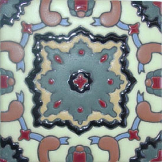 colonial hacienda relief tile gray