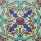old world relief tile pastel green