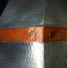 zinc range hood with copper straps on sale
