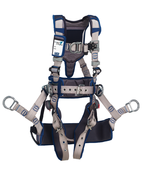 DBI SALA ExoFit STRATA Tower-Climb Harness back/front/side D-rings