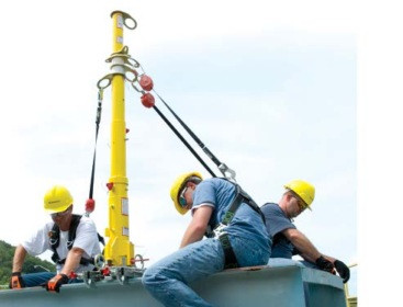 Miller DH-AP-1 Dura Hoist Portable Fall Arrest Post and Extension Post