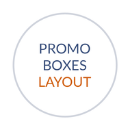 Promo/Feature Boxes with Captions for Homepage