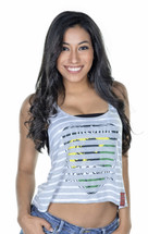 Shield Stripe Crop Tank