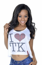 I Heart TK Crop Tank