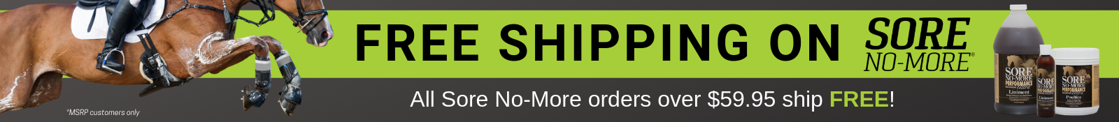 FREE Shipping on Sore No-More!