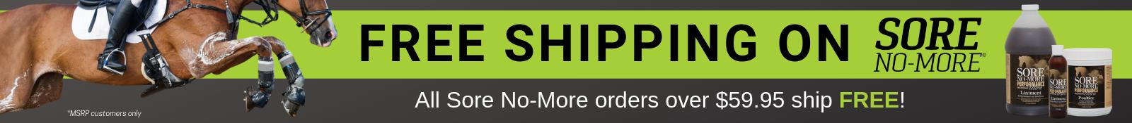 FREE Shipping on Sore No-More!