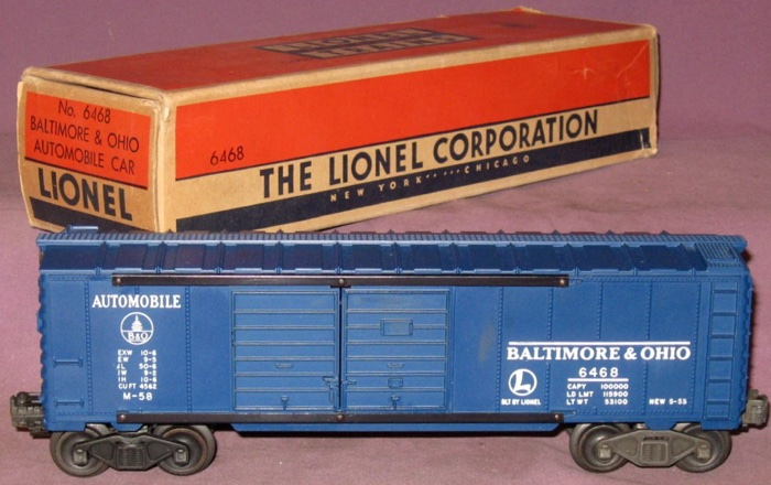 Freight Cars Box Style Freight Cars Box Cars 6468