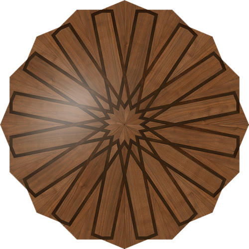 Henosis Flooring Medallion: Wood Flooring Medallion: Smith-Made.com
