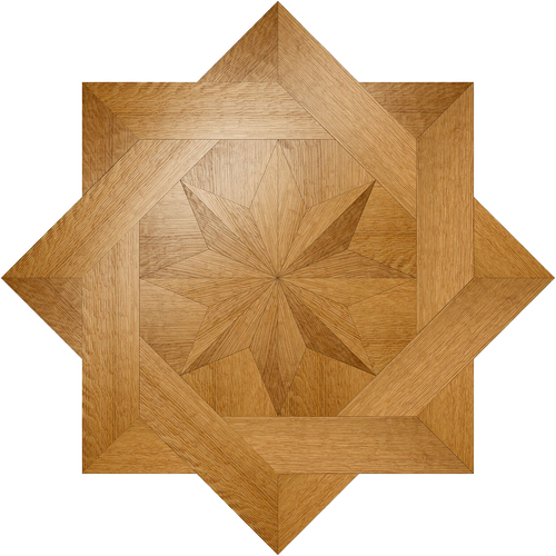 St. Clair Flooring Medallion: Wood Flooring Medallion: Smith-Made.com
