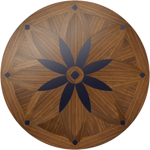 Night Blossom Flooring Medallion: Wood Flooring Medallion: Smith-Made.com