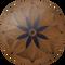 Night Blossom Flooring Medallion: Wood Flooring Medallion: Smith-Made.com