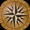 Explorer Flooring Medallion: Wood Flooring Medallion: Smith-Made.com