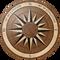 Captain's Anchorage Flooring Medallion: Wood Flooring Medallion: Smith-Made.com